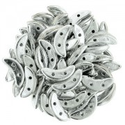 Crescent Beads Silver 3x10mm ca 10 gr