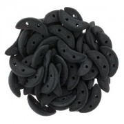 Crescent Beads matte Jet 3x10mm ca 10 gr