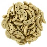 Crescent Beads matt metallic Flax 3x10mm ca 10 gr