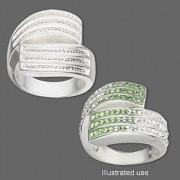 Ring 6 Channel Rectangle 25x18mm für Crystal Clay Größe 8