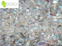 Gekko Beads 3x5mm Crystal AB beschichtet ca 10 gr