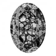 Swarovski Elements Steine Oval 30x22mm Crystal Black Patina F 1 Stück