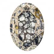 Swarovski Elements Steine Oval 30x22mm Crystal Gold Patina F 1 Stück