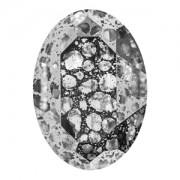 Swarovski Elements Steine Oval 30x22mm Crystal Silber Patina F 1 Stück