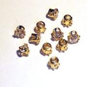 Cubic Zirkonia Stein gefasst gold 1Stück