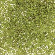 Miyuki Delica Beads 1,6mm DB2265 Picasso matt Chartreuse ca 5gr