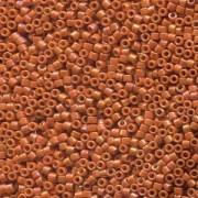 Miyuki Delica Beads 1,6mm DB2274 opaque glaced Burnt Orange ca 5gr