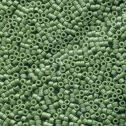 Miyuki Delica Beads 1,6mm DB2291 opaque glaced frosted dark Green ca 5gr