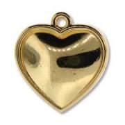 Anhänger Herz vergoldet für Crystal Clay 20mm