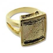 Ring Rechteck vergoldet für Crystal Clay Größe 8