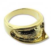 Ring Wave vergoldet für Crystal Clay Größe 8