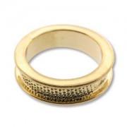 Ring Channel vergoldet für Crystal Clay Größe 8