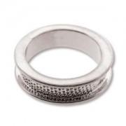 Ring Channel versilbert für Crystal Clay Größe 7