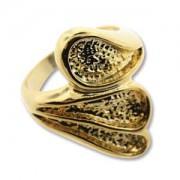 Ring Teardrop vergoldet für Crystal Clay Größe 8