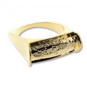 Ring schmales Rechteck vergoldet für Crystal Clay Größe 8
