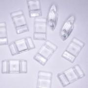 Acryl Trägerperlen 18x9x5mm Crystal 30 Stück