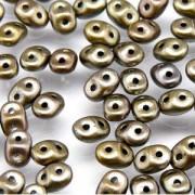SuperDuo Perlen 2,5x5mm Crystal Rainbow Grey DU0500030-01670-92 ca 24gr