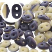SuperDuo Perlen 2,5x5mm Navi Ivory Matt DU0533413-84110-127 ca 24gr