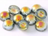 Dome Beads 14x8mm Chrystal Marea 10 Stück