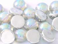 Dome Beads 14x8mm Chrystal Rainbow Silver 10 Stück