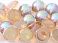 Dome Beads 14x8mm Chrystal Rainbow Brown 10 Stück