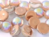 Dome Beads 14x8mm Chrystal Rainbow Copper 10 Stück