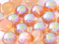 Dome Beads 14x8mm Chrystal Rainbow Orange 10 Stück