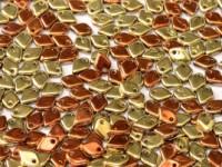 Dragon Scale Beads 1,5x5mm Crystal California Gold Rush ca 9,5 gr