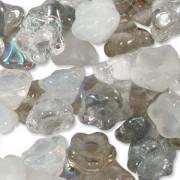 Glasperlen gepresst Blümchen 7mm MIX12 Apparition 100 Stück