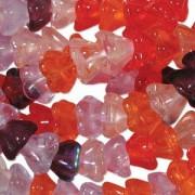 Glasperlen gepresst Blütenkelch 11X13mm MIX10 Melonberry 50 Stück