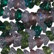 Glasperlen gepresst Blütenkelch 11X13mm MIX21 Lavender Garden 50 Stück