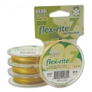 Flexrite 7strängig 0,45mm Metallic Satin Gold 9,14m