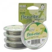 Flexrite 7strängig 0,5mm Silberfarben 9,14m