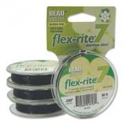 Flexrite 7strängig 0,5mm Schwarz 9,14m
