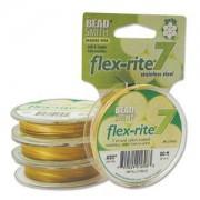 Flexrite 7strängig 0,5mm Metallic Satin Gold 9,14m