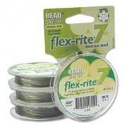 Flexrite 7strängig 0,6mm Silberfarben 9,14m