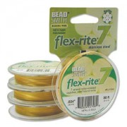 Flexrite 7strängig 0,6mm Metallic Satin Gold 9,14m