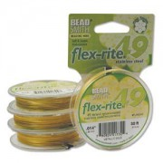 Flexrite 49strängig 0,35mm Metallic Satin Gold 9,14m