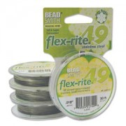 Flexrite 49strängig 0,45mm Silberfarben 9,14m