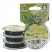 Flexrite 49strängig 0,45mm Schwarz 9,14m