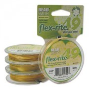 Flexrite 49strängig 0,45mm Metallic Satin Gold 9,14m