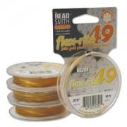 Flexrite 49strängig 0,45mm 24KT Vergoldet 3m