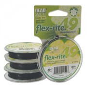 Flexrite 49strängig 0,6mm Schwarz 9,14m