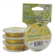 Flexrite 49strängig 0,6mm Metallic Satin Gold 9,14m