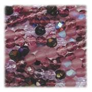 Glasschliffperlen 8mm MIX 50 Stück Lilac