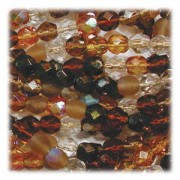 Glasschliffperlen 8mm MIX 50 Stück Wheatberry