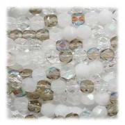 Glasschliffperlen 4mm MIX 100 Stück  Apparition
