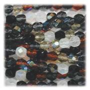 Glasschliffperlen 8mm MIX 50 Stück Pebblestone
