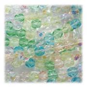 Glasschliffperlen 3mm MIX 100 Stück  Spring Flowers