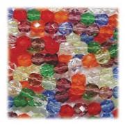 Glasschliffperlen 6mm MIX 100 Stück Rainbow